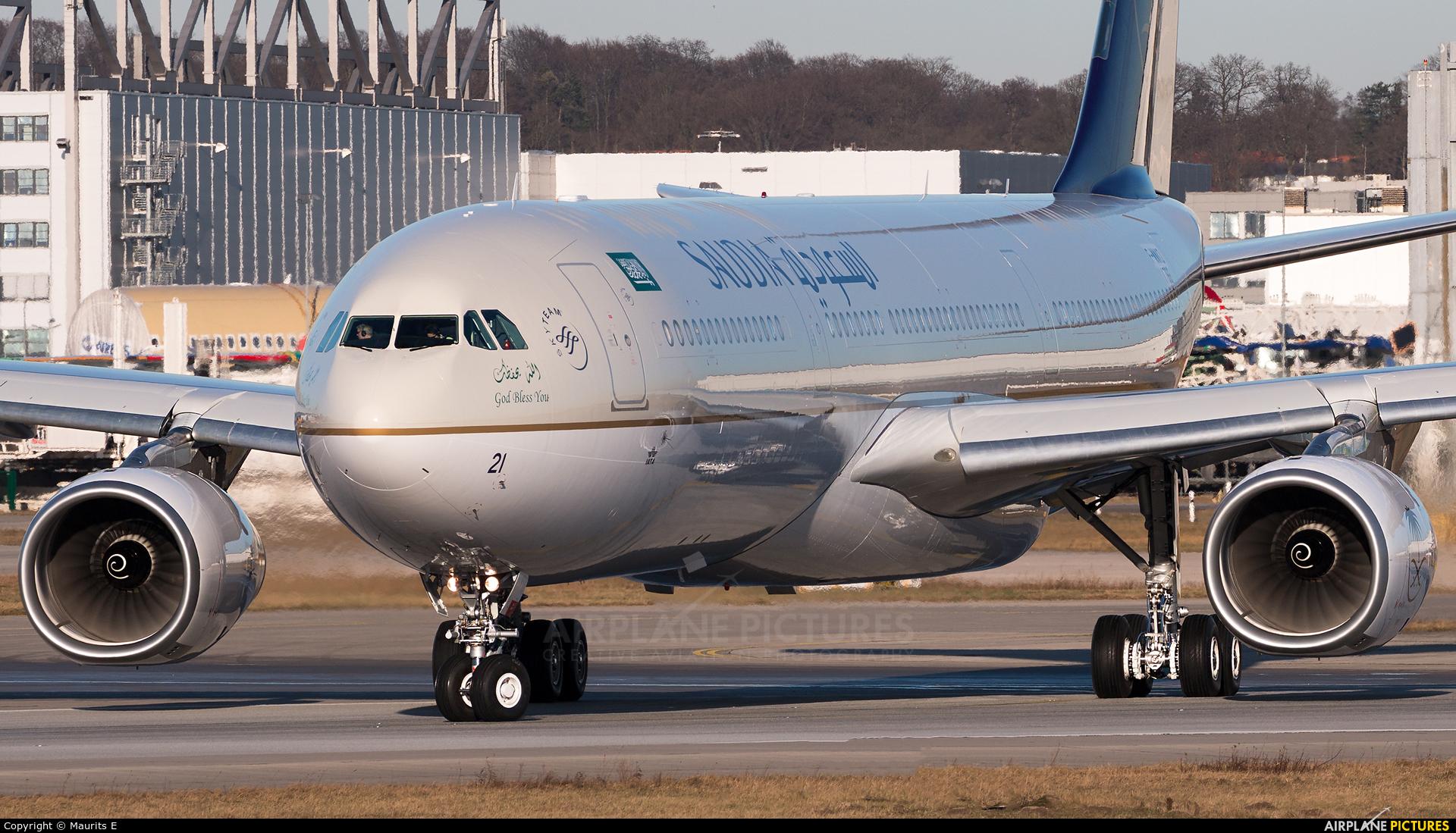 Saudi Arabian Airlines F-WWKD aircraft at Hamburg - Finkenwerder