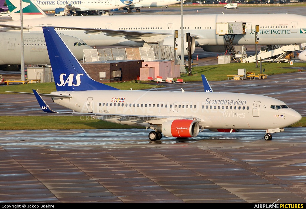 SAS - Scandinavian Airlines LN-RNU aircraft at Manchester