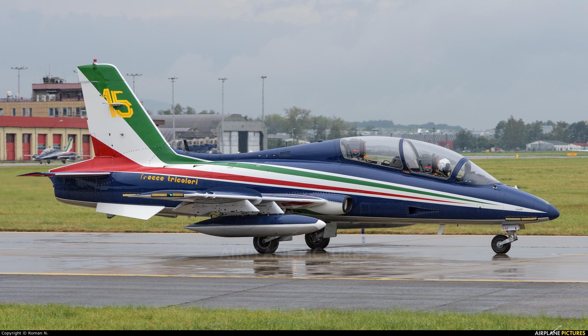 "Italy - Air Force ""Frecce Tricolori"" MM54500 aircraft at Ostrava Mošnov"