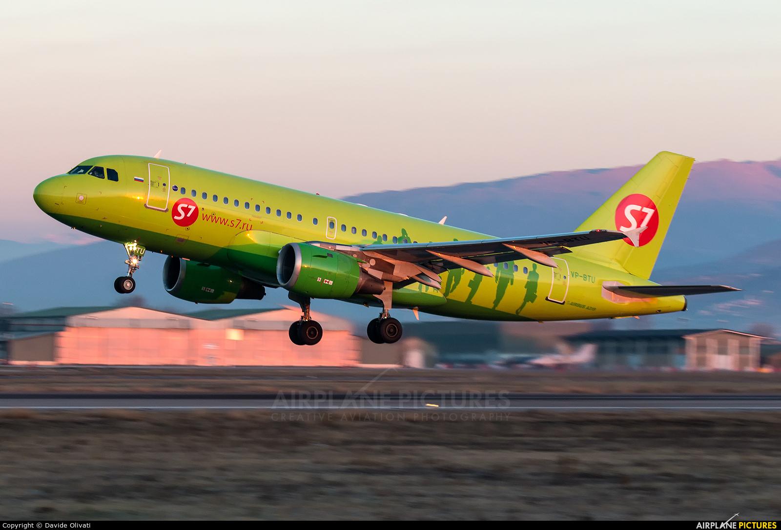 S7 Airlines VP-BTU aircraft at Verona - Villafranca