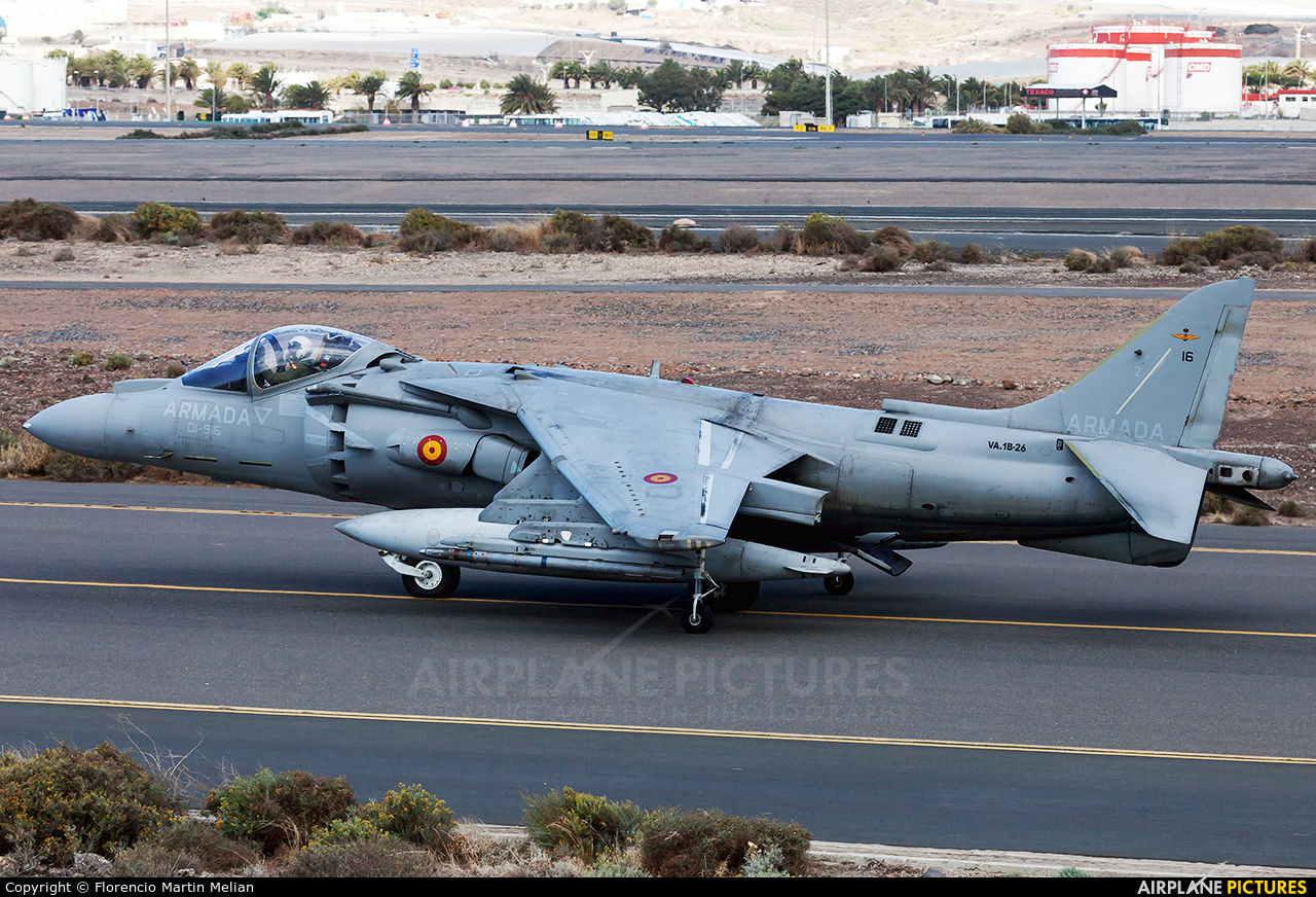 Spain - Navy VA.1B-26 aircraft at Las Palmas de Gran Canaria