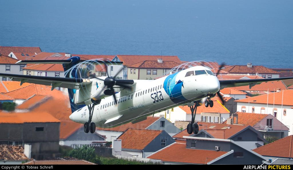 SATA Air Açores CS-TRG aircraft at Azores-Flores