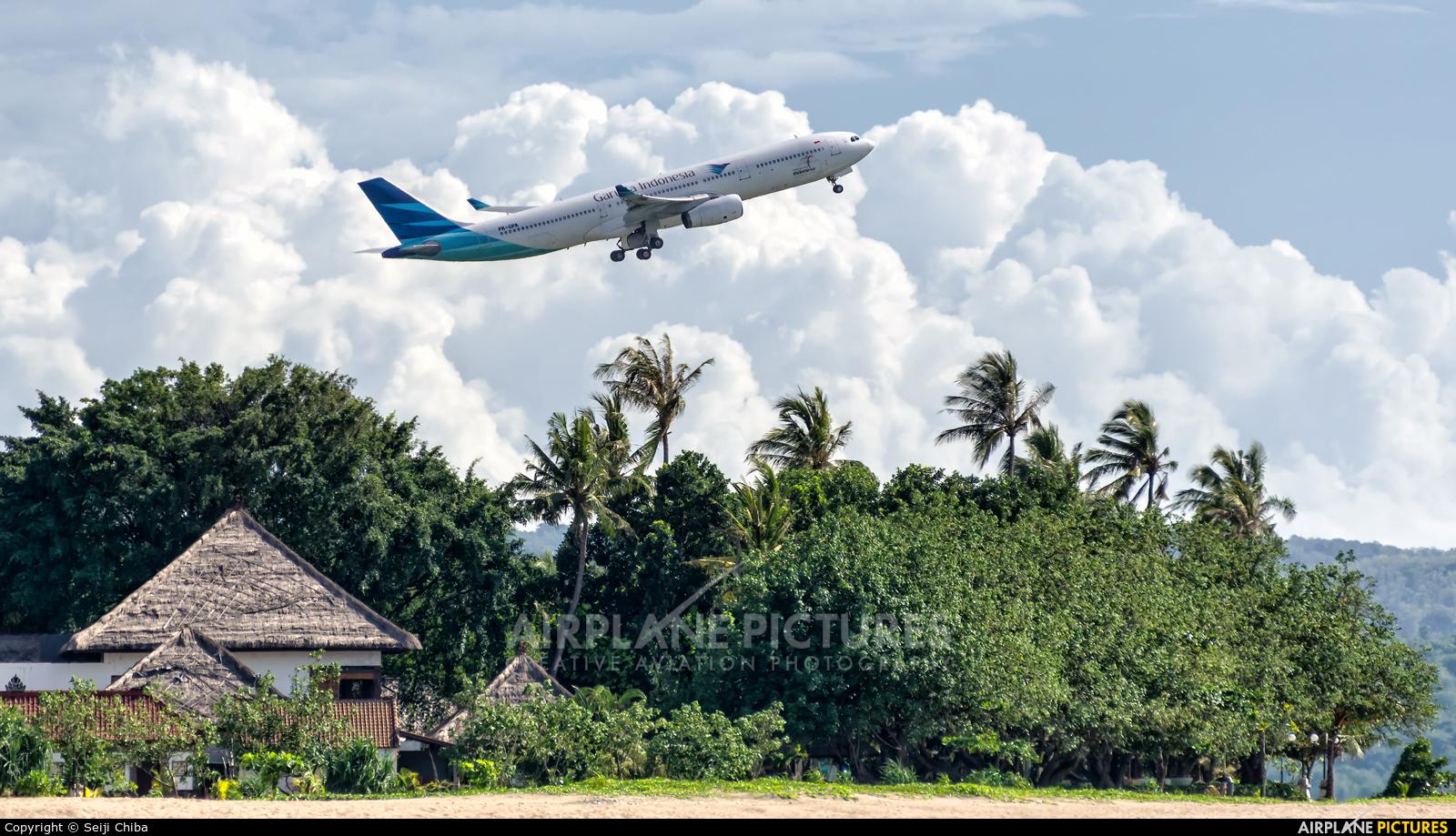 Garuda Indonesia PK-GPA aircraft at Denpasar- Ngurah Rai Intl