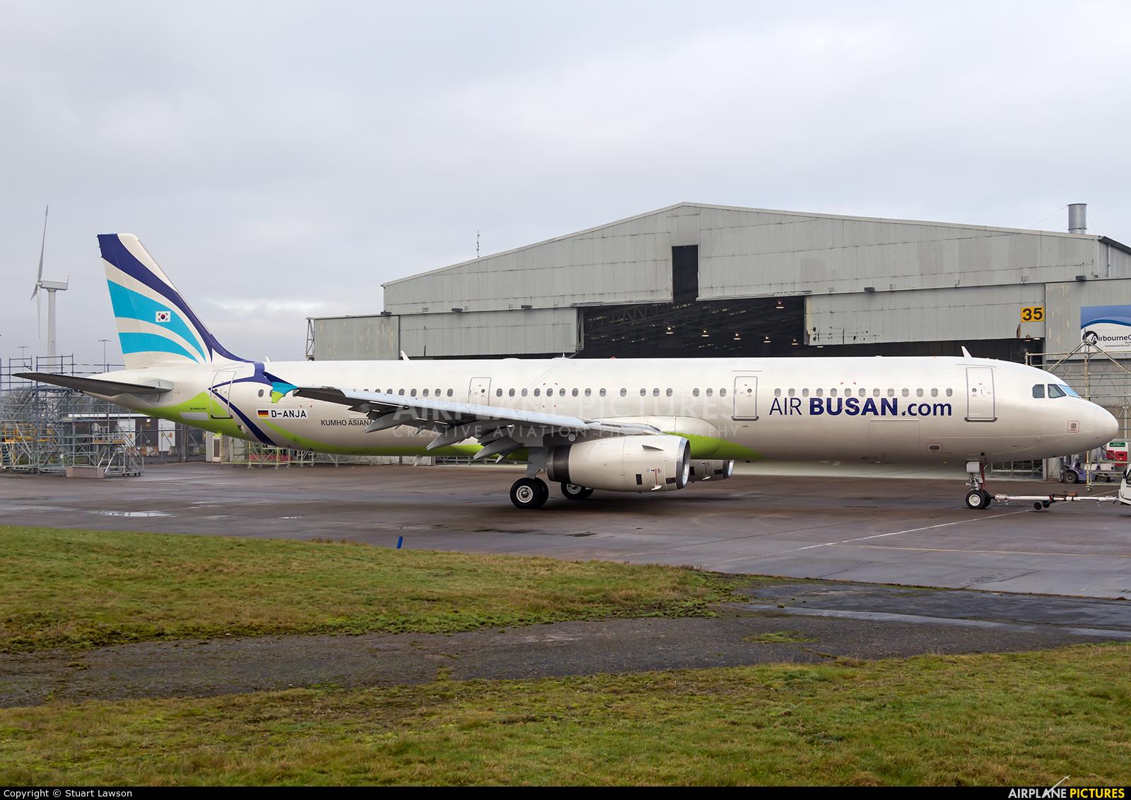 Air Busan D-ANJA aircraft at East Midlands