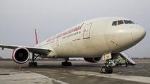 Rare Omni Air International 777 visit at Poznań title=
