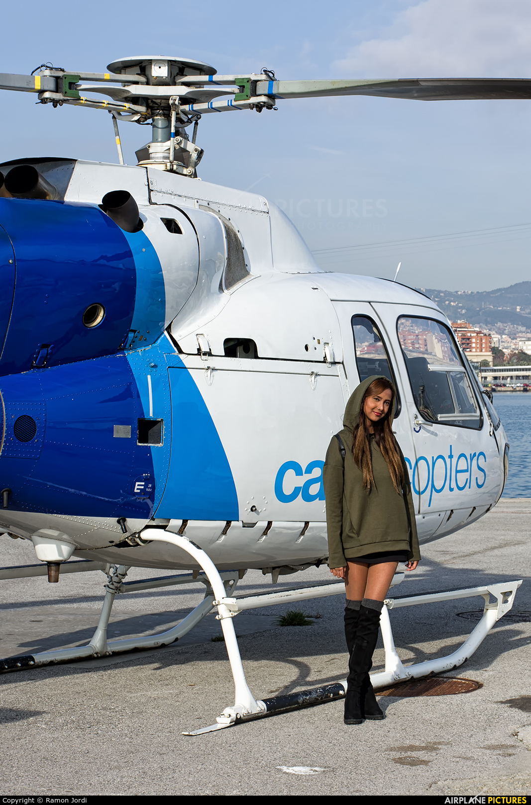 - Aviation Glamour EC-JYJ aircraft at Autoridad Portuaria de Barcelona heliport