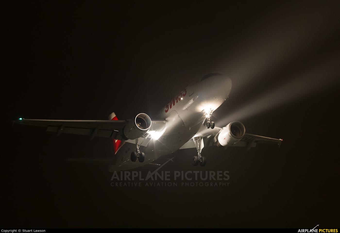 Swiss HB-IPU aircraft at London - Heathrow