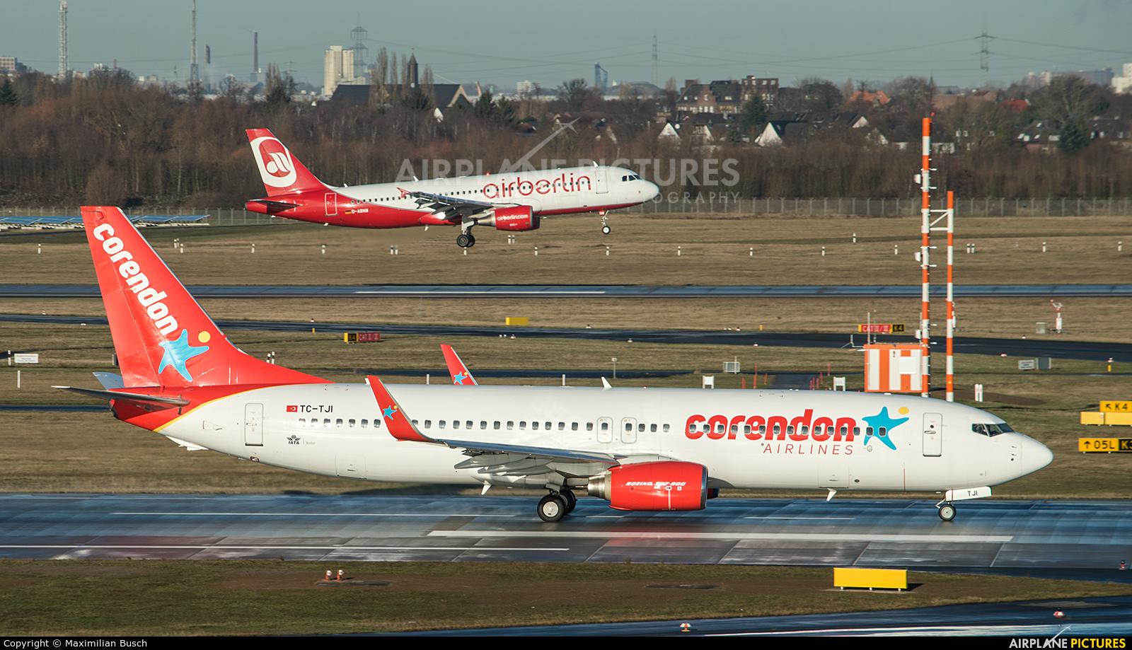 Corendon Airlines TC-TJI aircraft at Düsseldorf