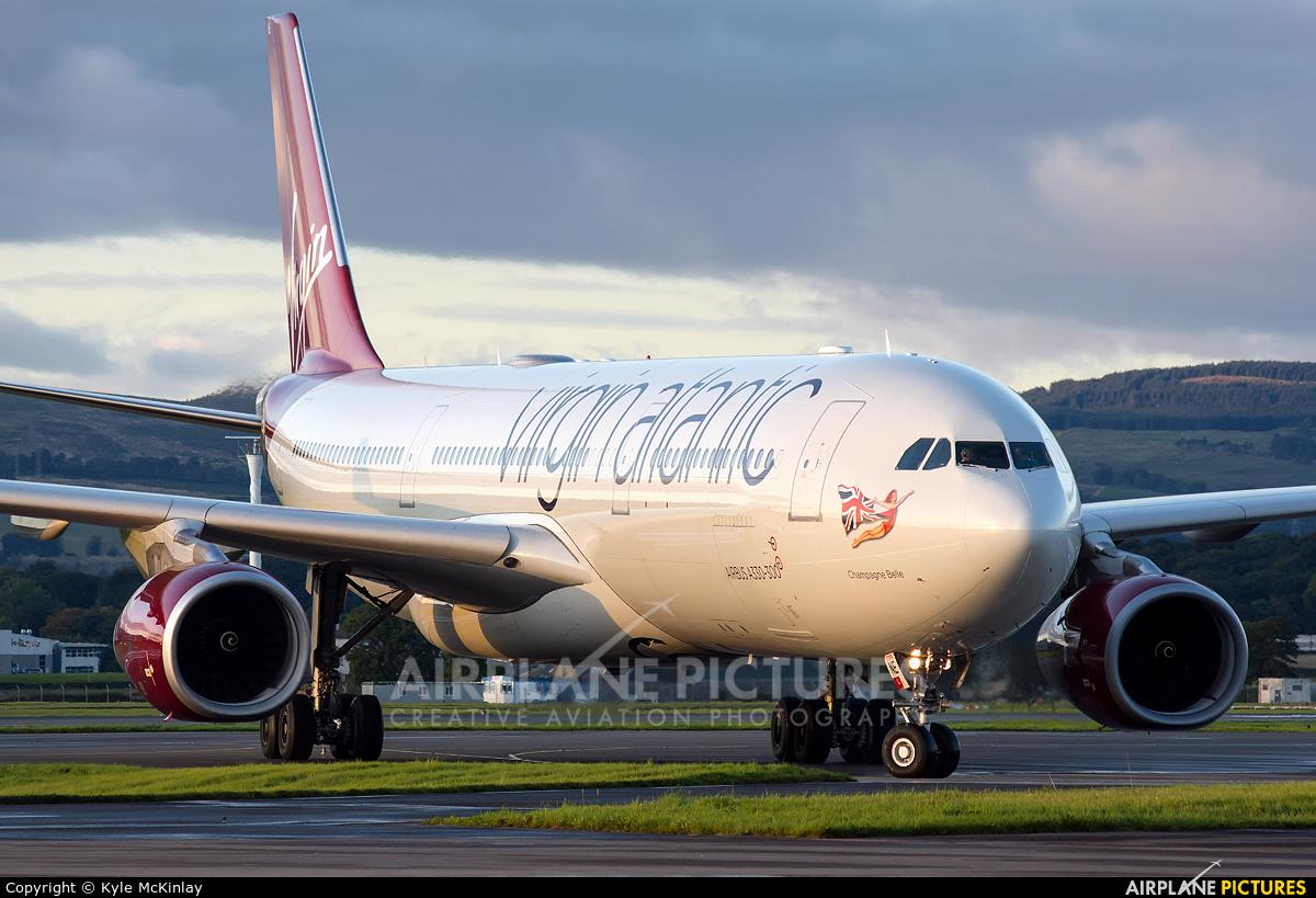 Virgin Atlantic G-VINE aircraft at Glasgow