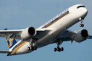 Delivery flight of Singapore Airbus A350 title=