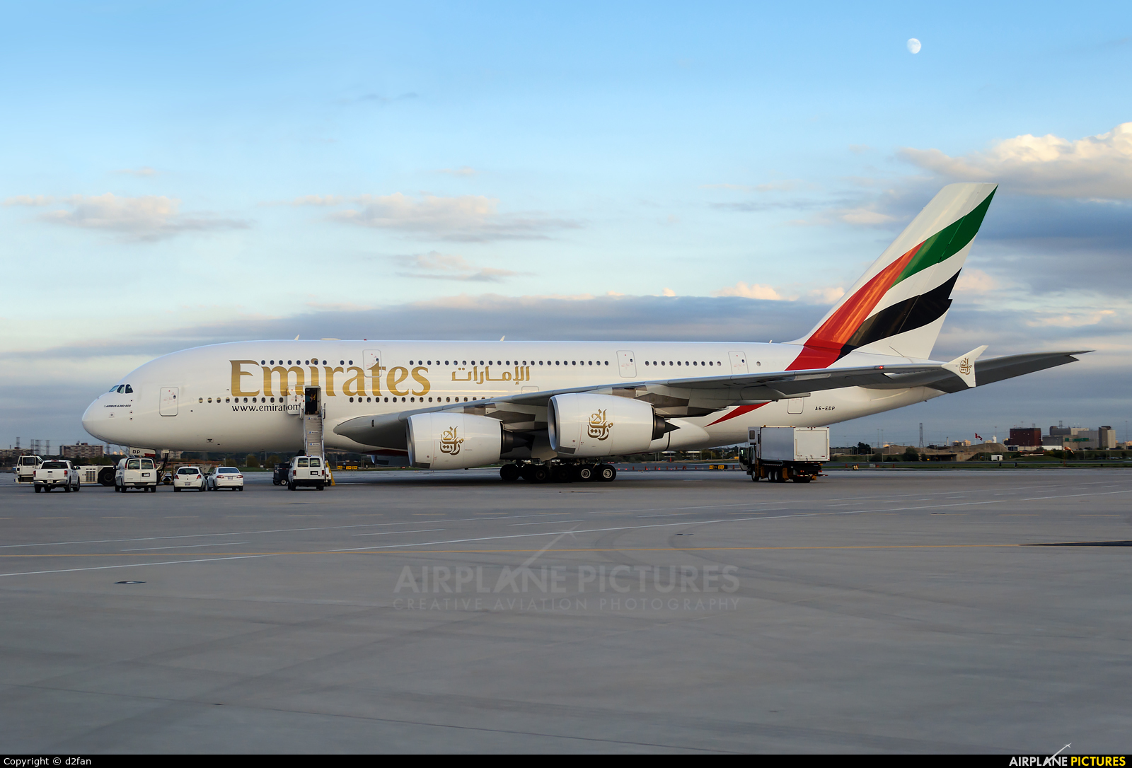 Emirates Airlines A6-EDP aircraft at Toronto - Pearson Intl, ON