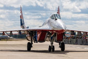 "29 - Russia - Air Force ""Strizhi"" Mikoyan-Gurevich MiG-29UB aircraft"