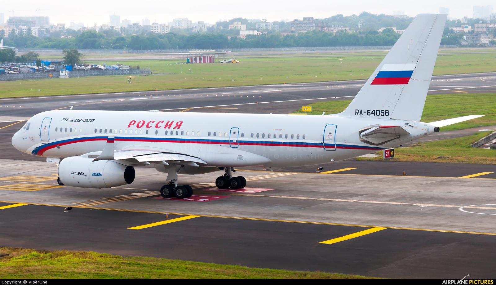 Rossiya RA-64058 aircraft at Mumbai - Chhatrapati Shivaji Intl