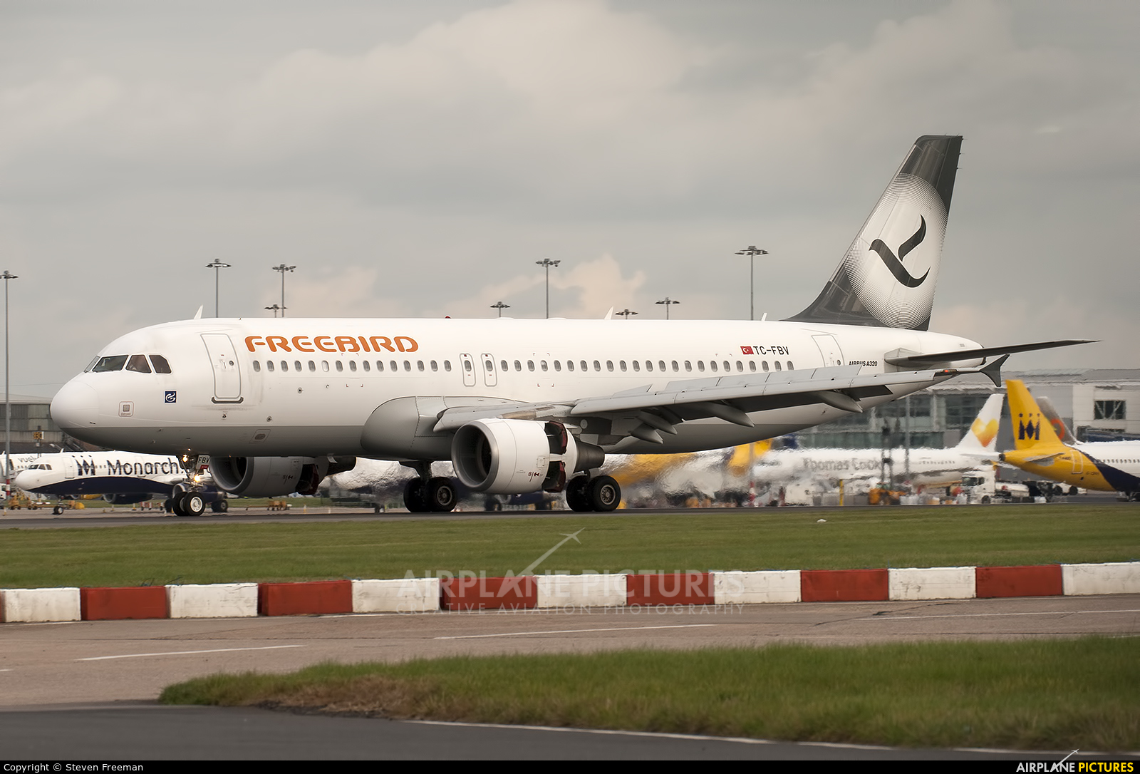 FreeBird Airlines TC-FBV aircraft at Birmingham