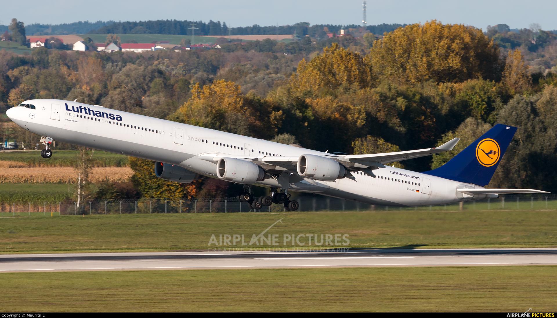 Lufthansa D-AIHU aircraft at Munich