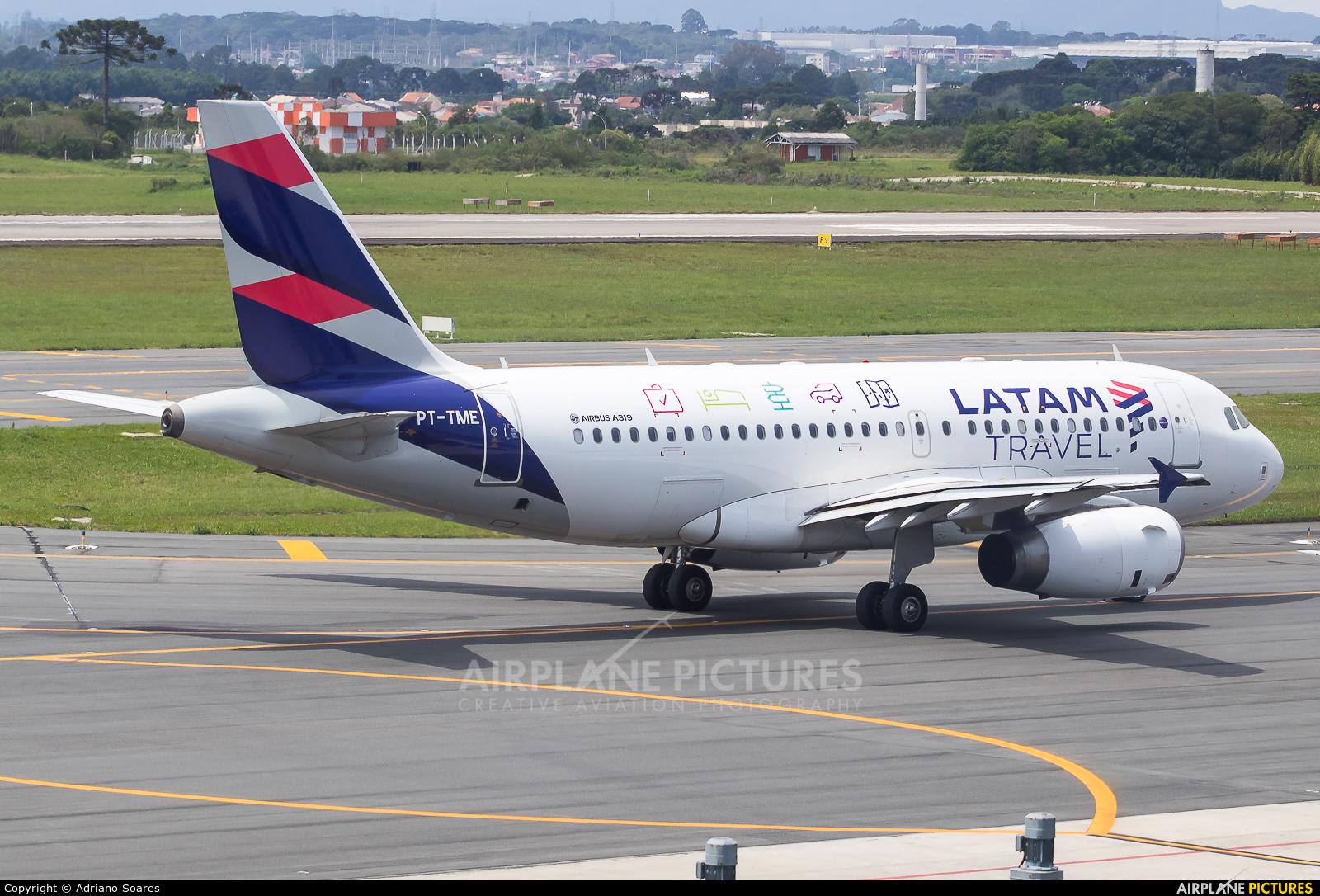 LATAM PT-TME aircraft at Curitiba -  Afonso Pena