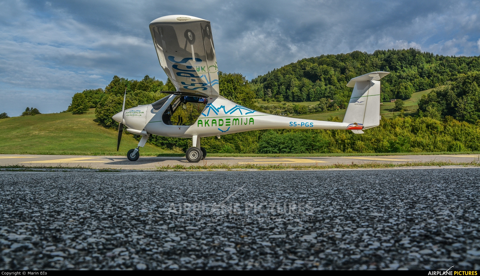 Helicop Litija S5-PGS aircraft at Off Airport - Slovenia