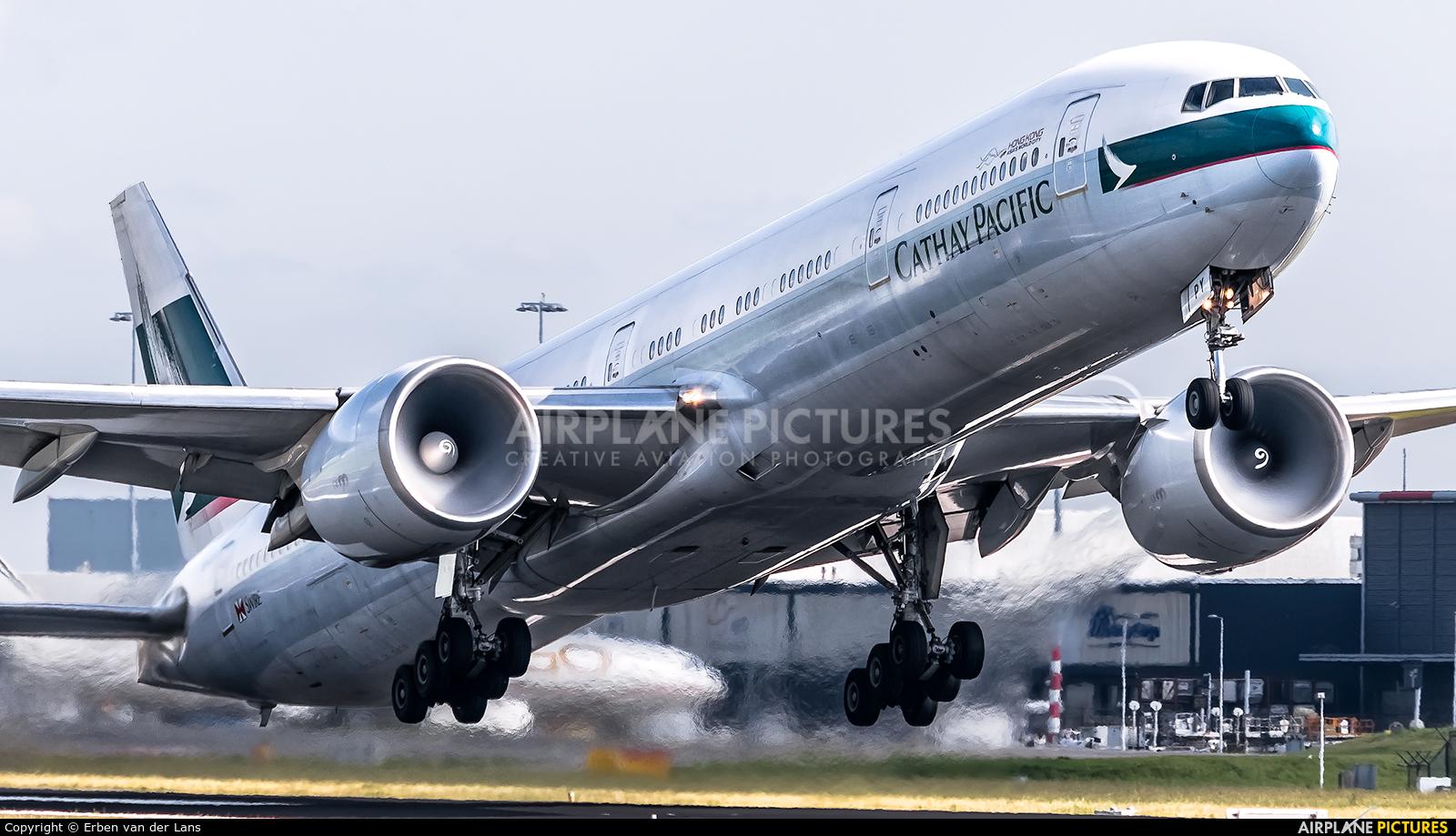 Cathay Pacific B-KPY aircraft at Amsterdam - Schiphol