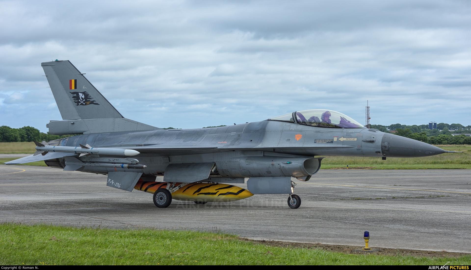 Belgium - Air Force FA-106 aircraft at Landivisiau