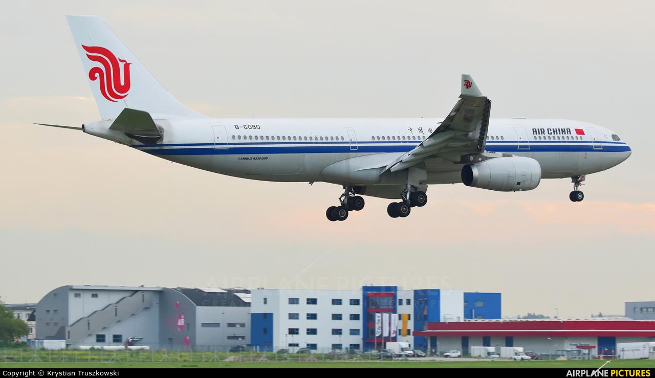 Air China B-6080 aircraft at Warsaw - Frederic Chopin