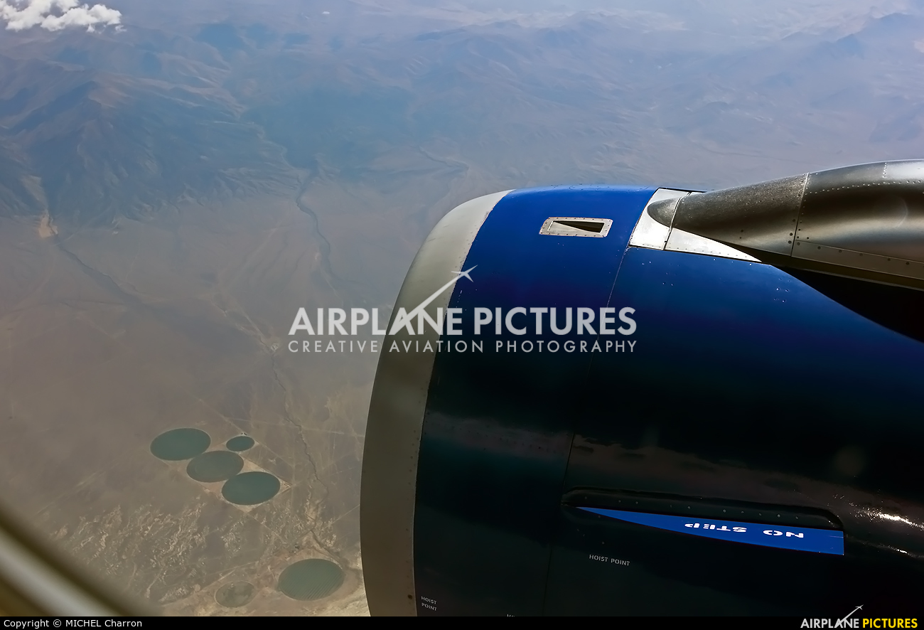 United Airlines N485UE aircraft at In Flight - Nevada