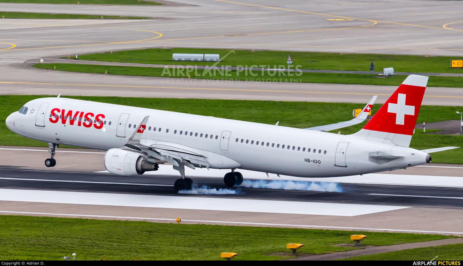 Swiss HB-IOO aircraft at Zurich