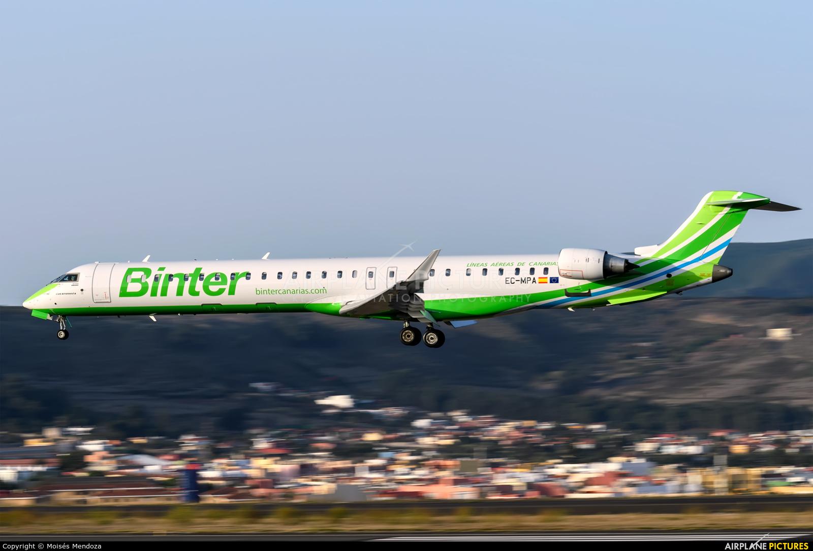Binter Canarias EC-MPA aircraft at Tenerife Norte - Los Rodeos
