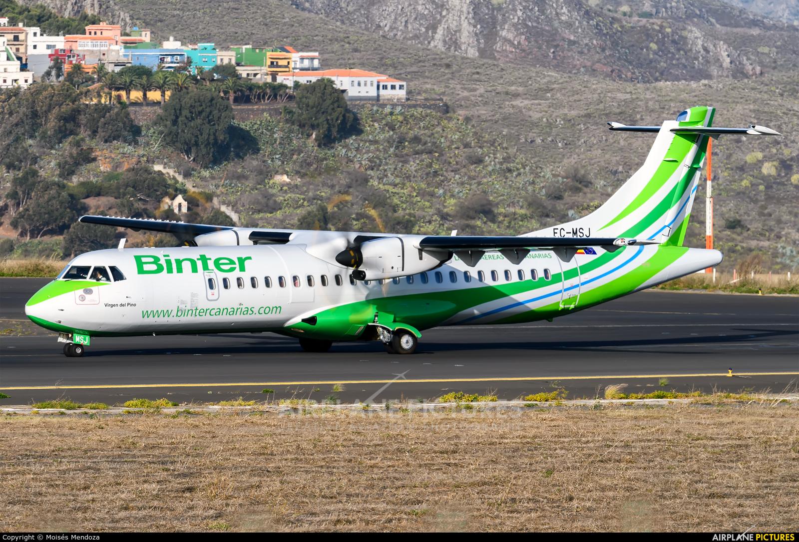 Binter Canarias EC-MSJ aircraft at Tenerife Norte - Los Rodeos