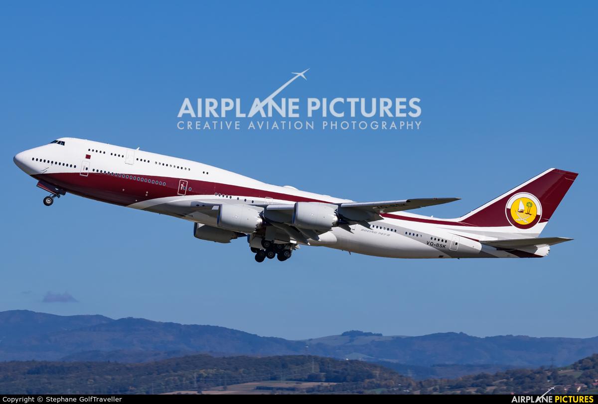 Qatar Amiri Flight VQ-BSK aircraft at Basel - Mulhouse- Euro