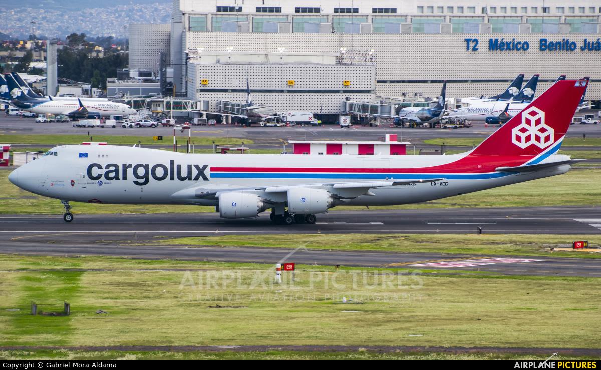 Cargolux LX-VCG aircraft at Mexico City - Licenciado Benito Juarez Intl