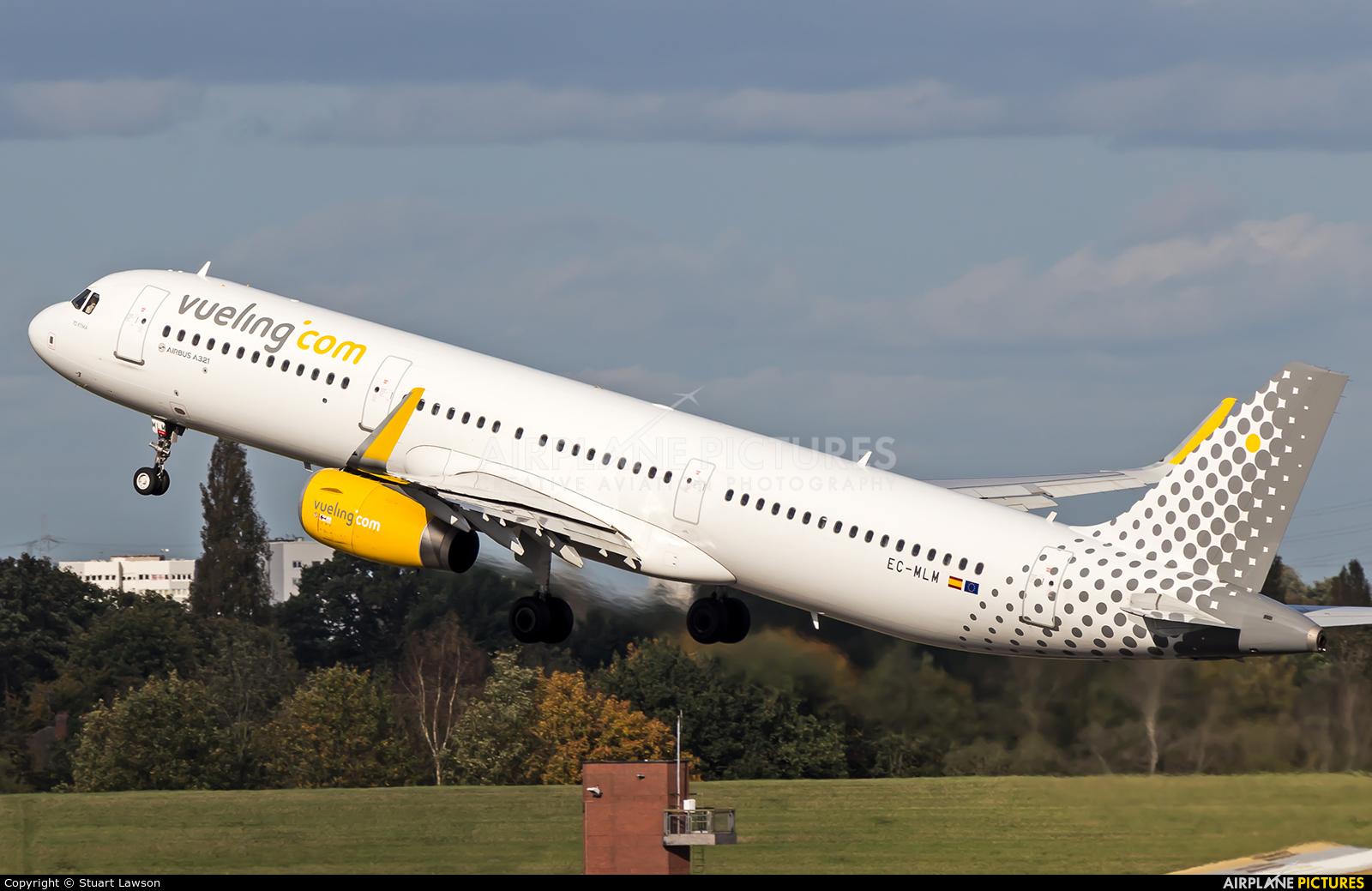 Vueling Airlines EC-MLM aircraft at Birmingham