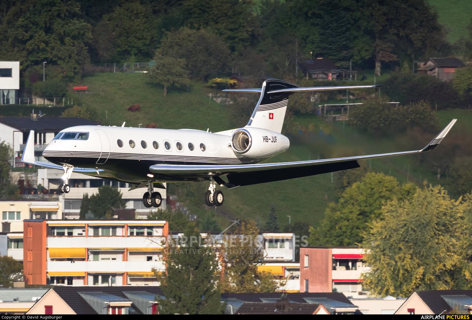 Swiss Jet HB-JUF aircraft at Zurich