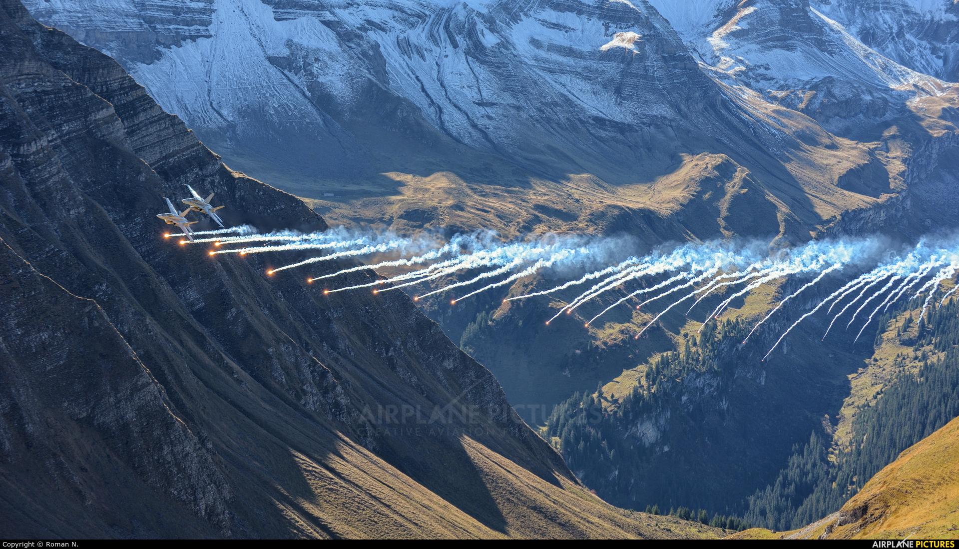Switzerland - Air Force - aircraft at Axalp - Ebenfluh Range