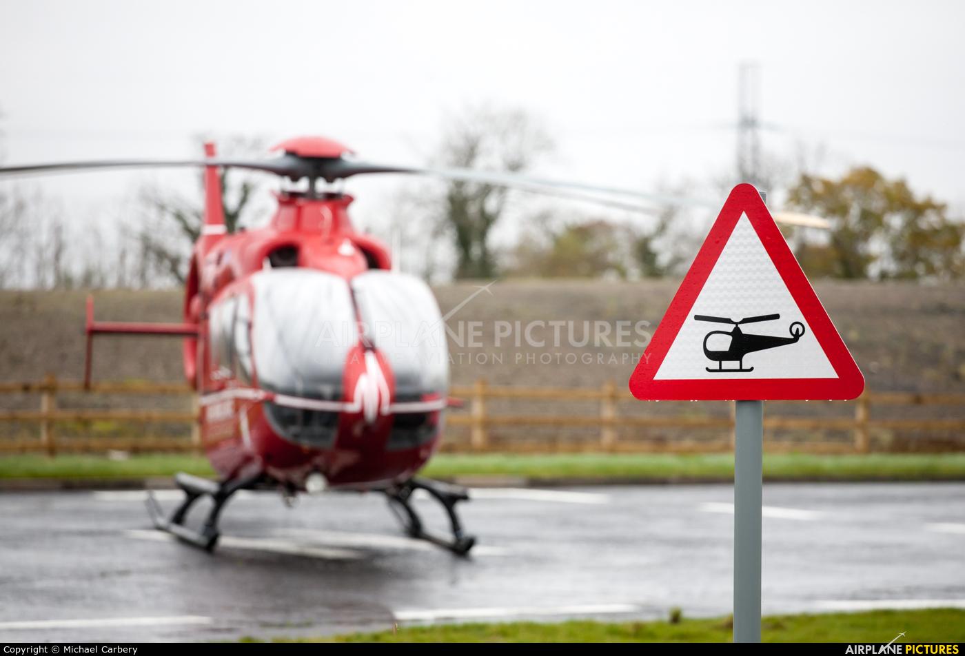 Air Ambulance Northern Ireland G-NIHM aircraft at Long Kesh