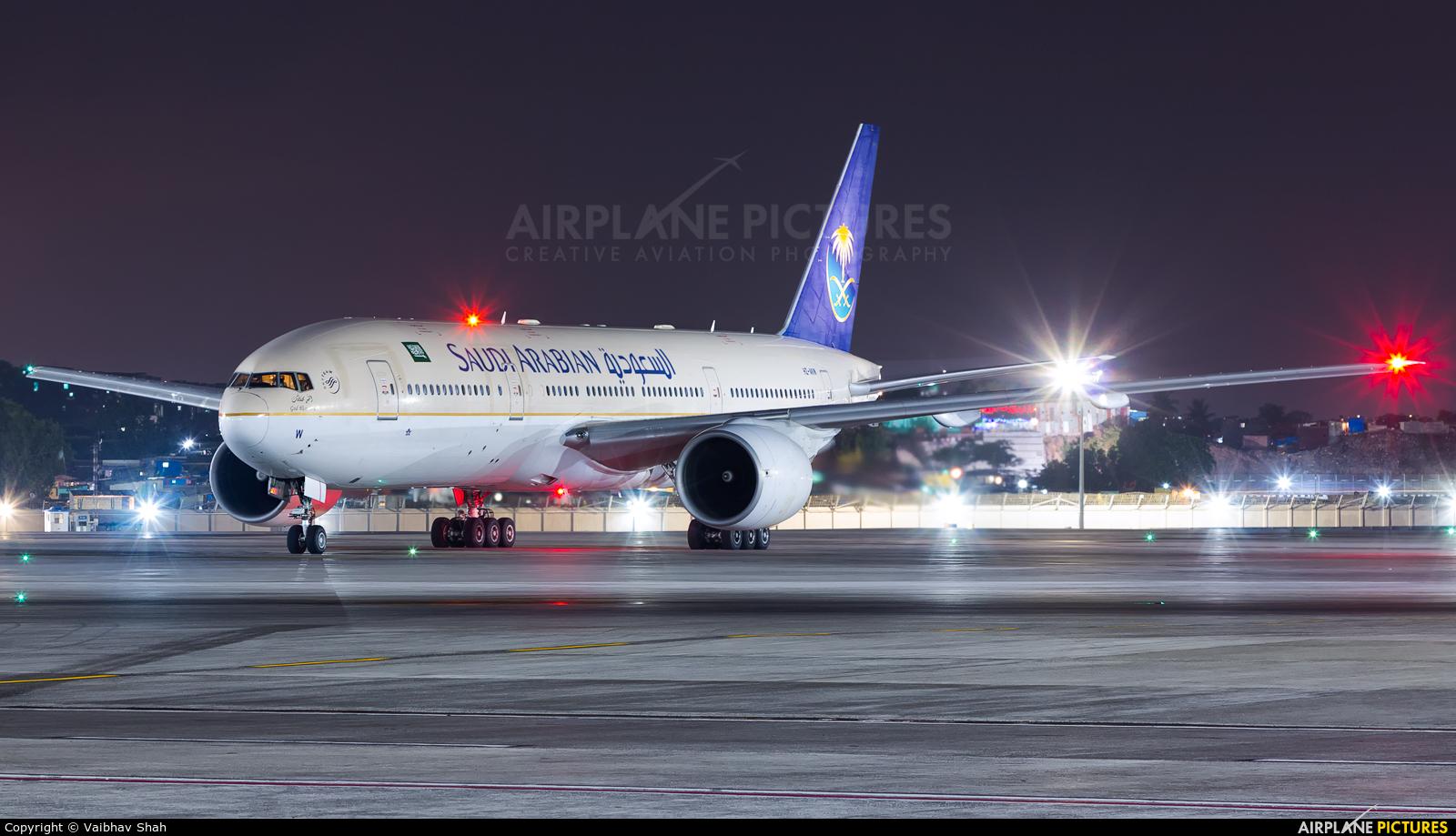 Saudi Arabian Airlines HZ-AKW aircraft at Mumbai - Chhatrapati Shivaji Intl