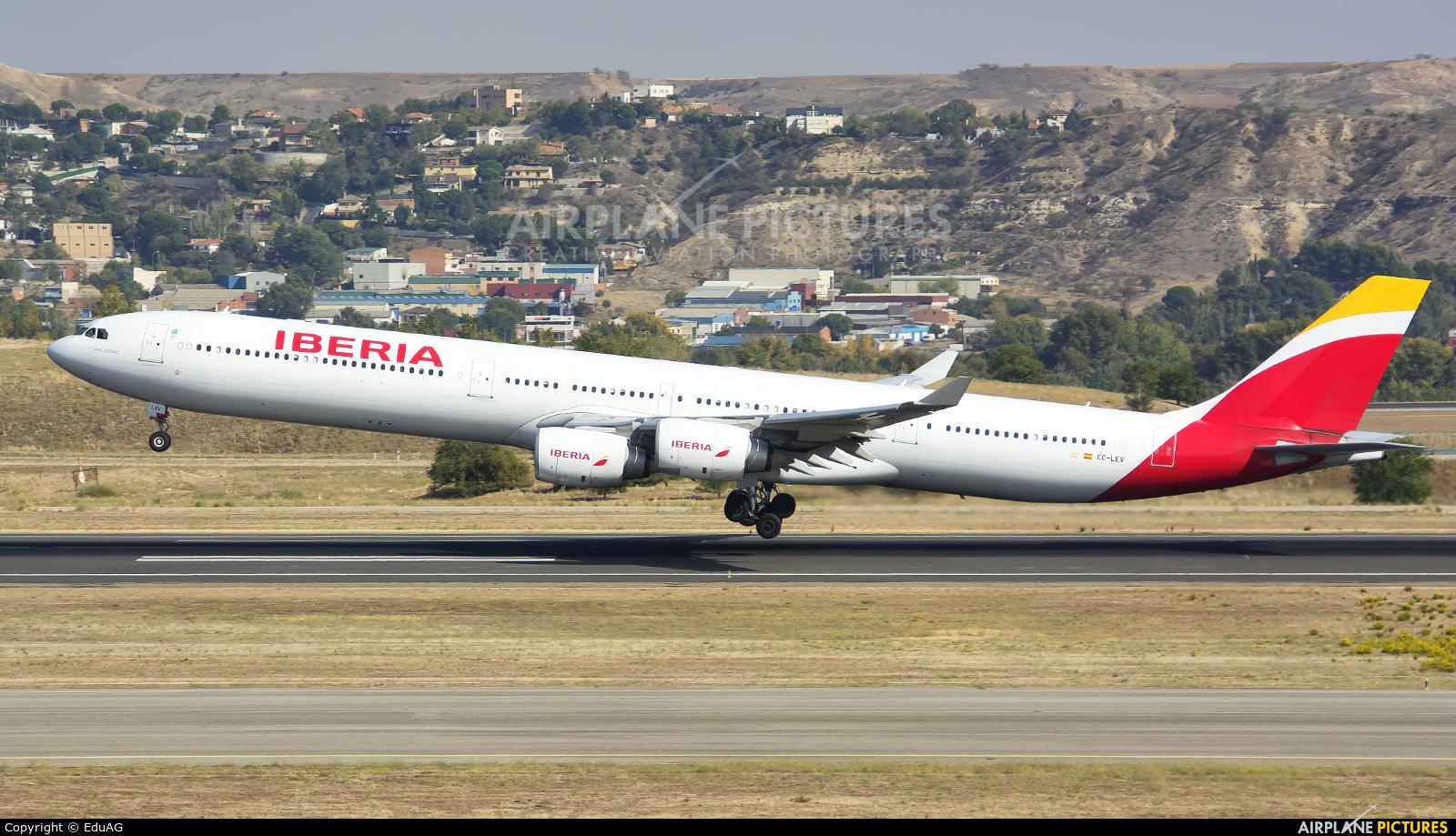Iberia EC-LEV aircraft at Madrid - Barajas