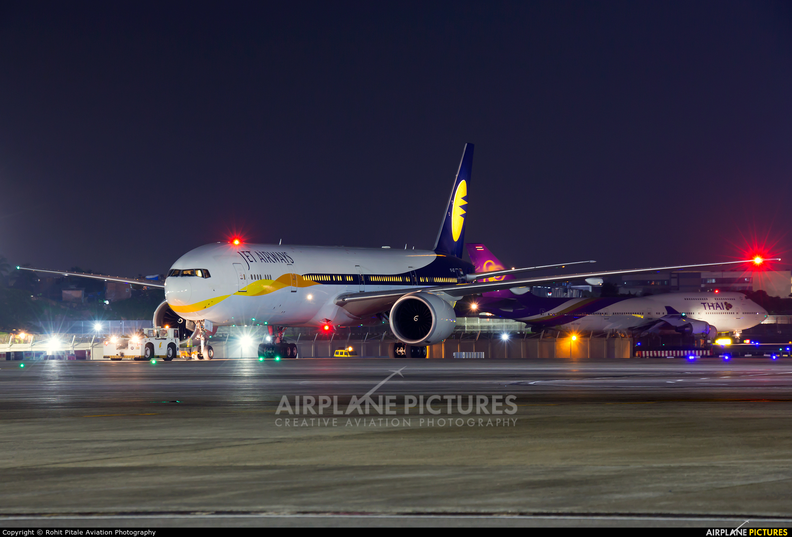 Jet Airways VT JET Aircraft At Mumbai