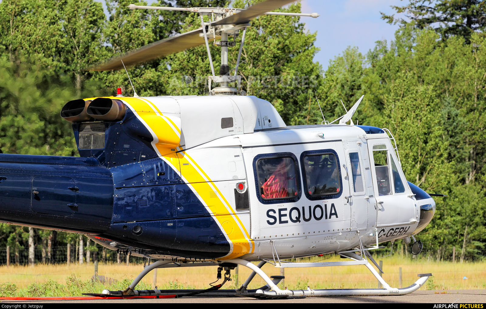 Sequoia Helicopters C-GERH aircraft at 100 Mile House, BC
