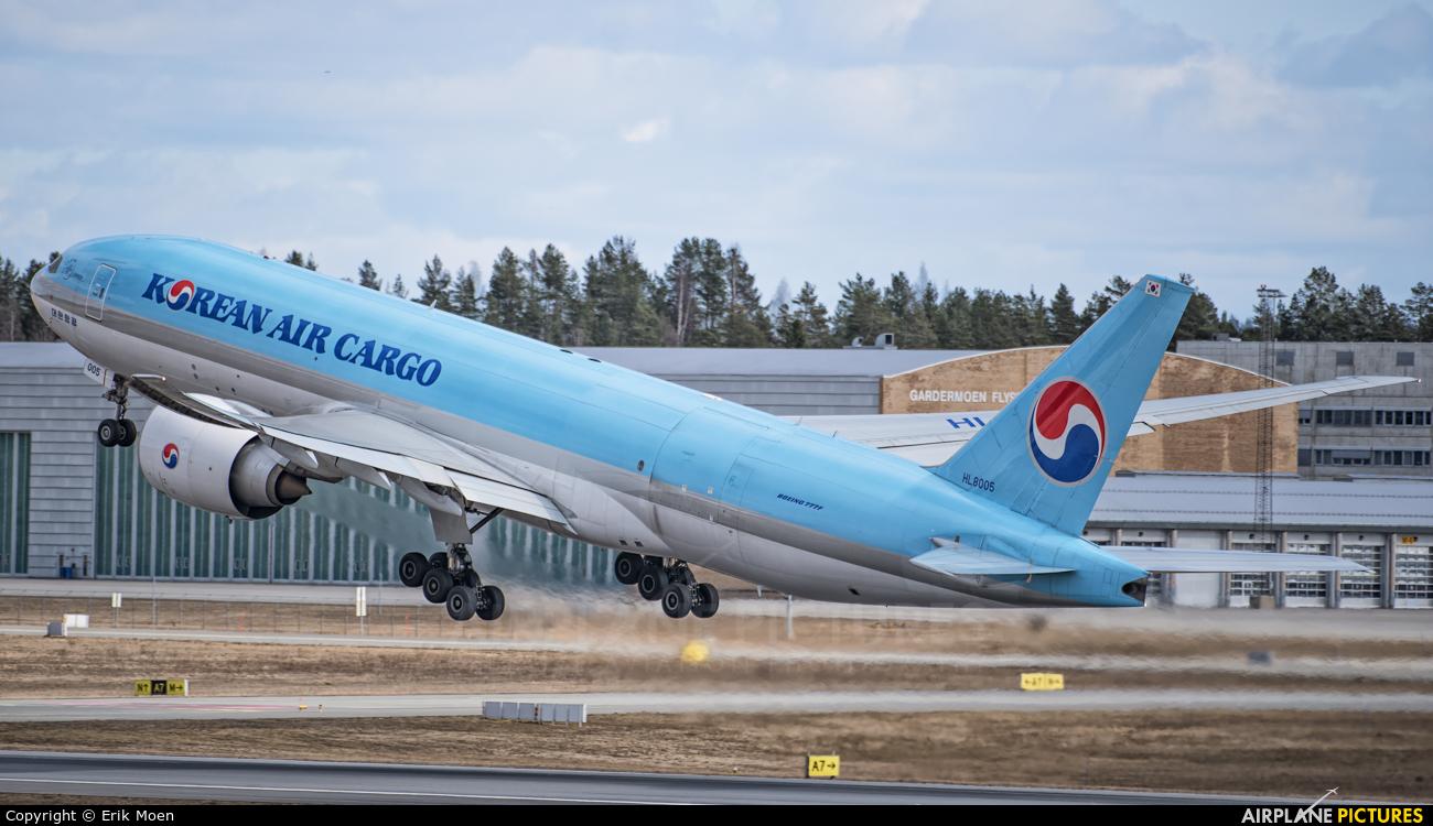 Korean Air Cargo HL8005 aircraft at Oslo - Gardermoen
