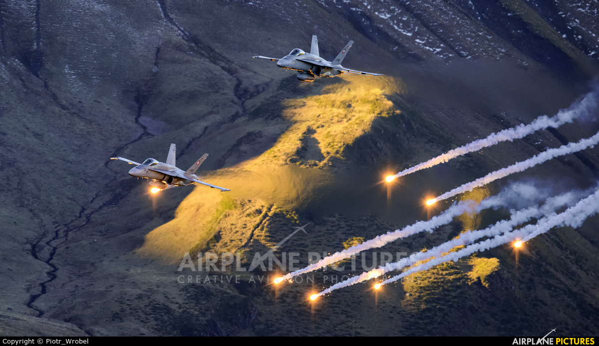 Switzerland - Air Force J-5021 aircraft at Axalp - Ebenfluh Range