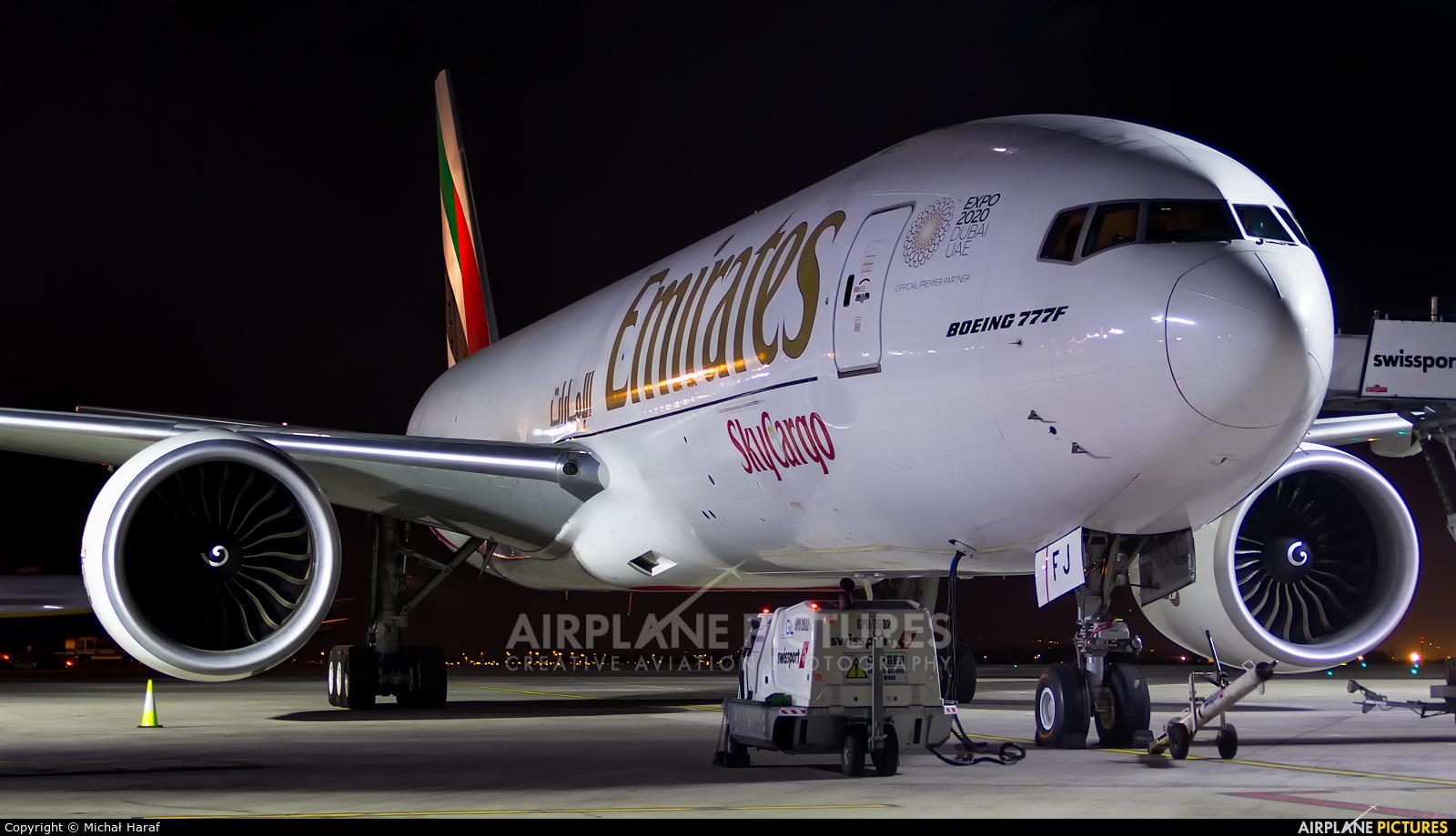 Emirates Sky Cargo A6-EFJ aircraft at Dublin