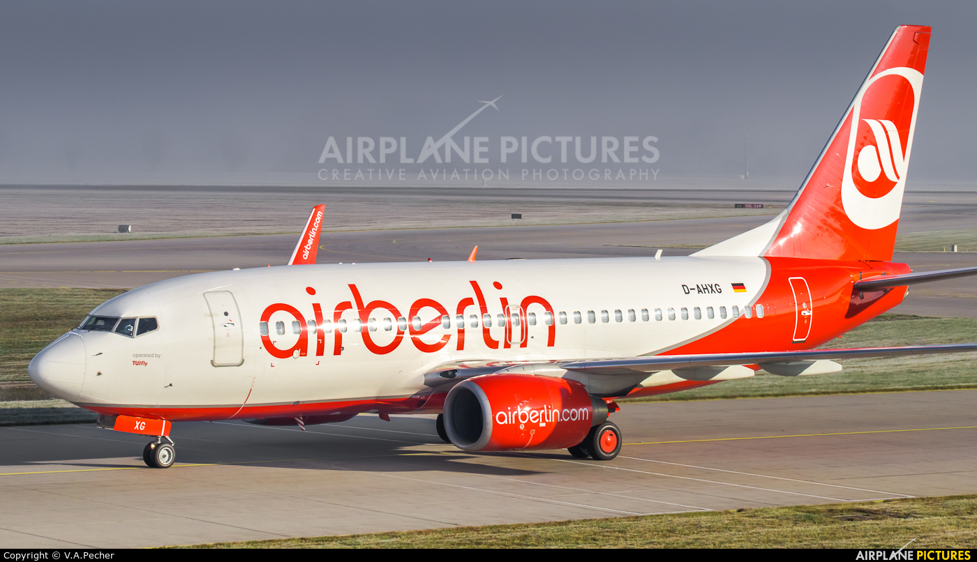 Air Berlin D-AHXG aircraft at Munich