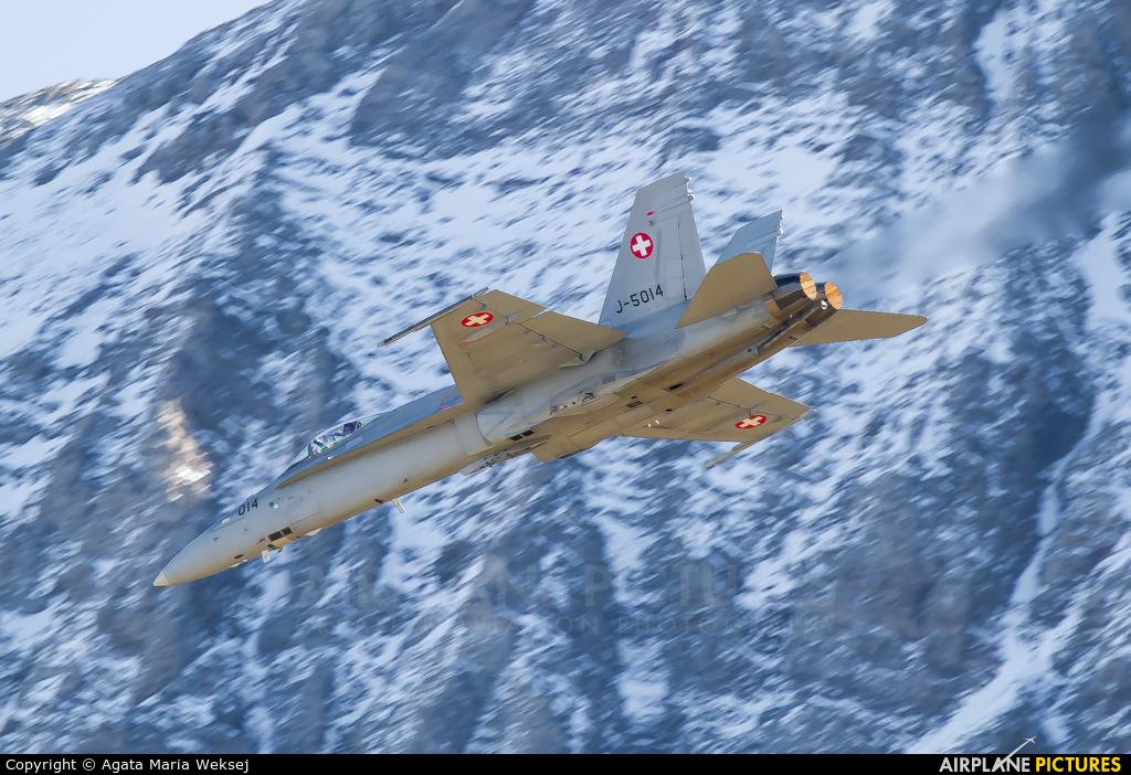 Switzerland - Air Force J-5014 aircraft at Axalp - Ebenfluh Range