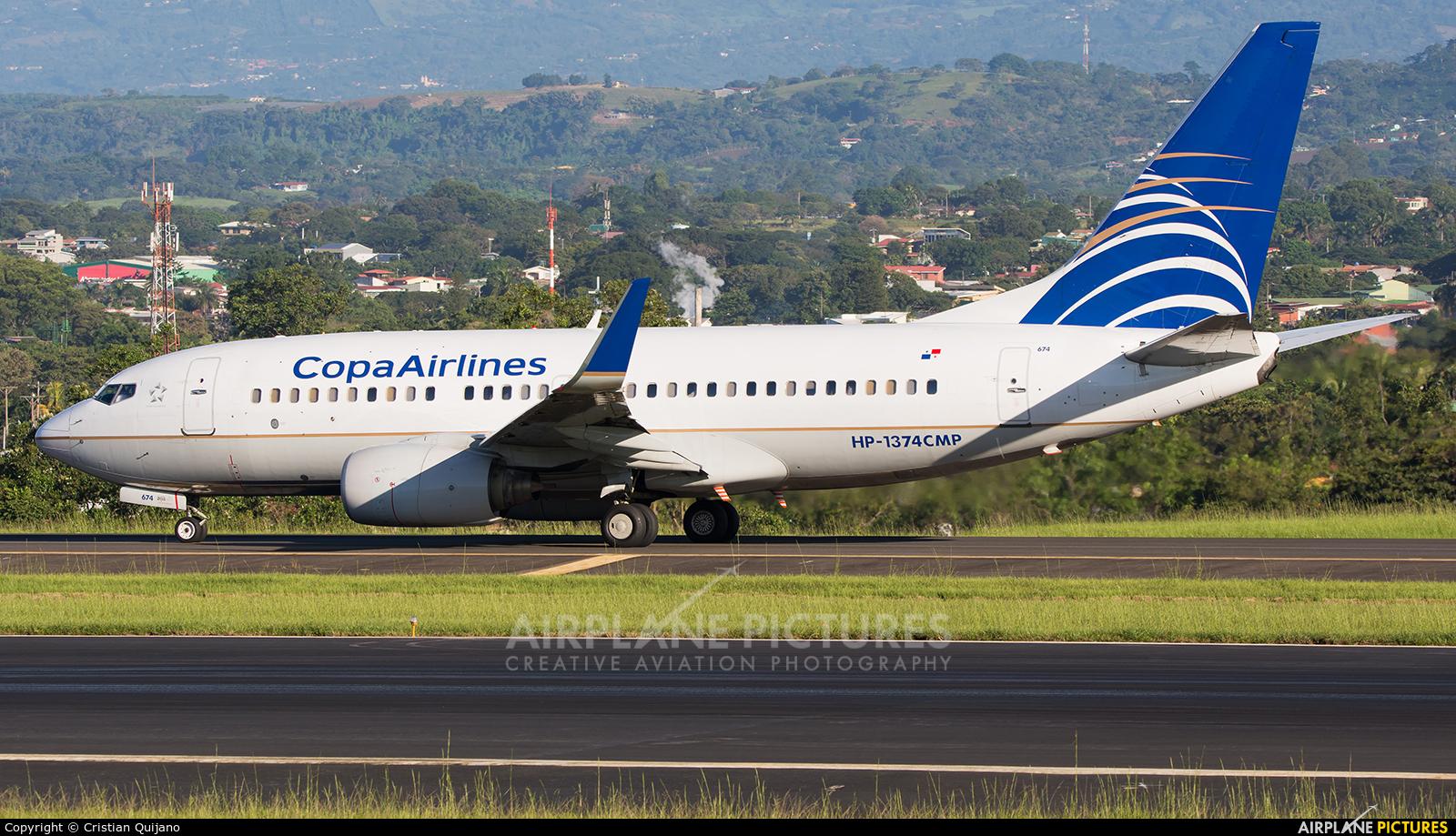 Copa Airlines Colombia HP-1374CMP aircraft at San Jose - Juan Santamaría Intl