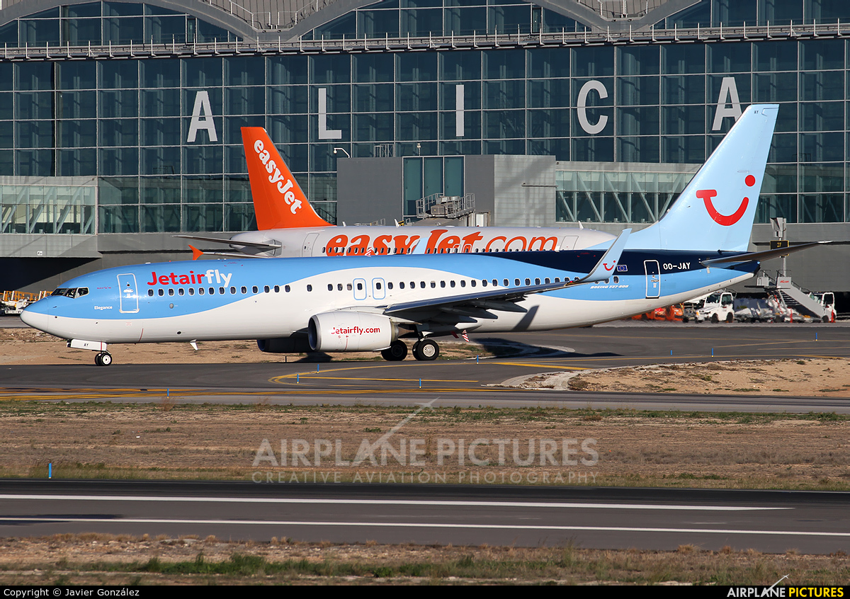Jetairfly (TUI Airlines Belgium) OO-JAY aircraft at Alicante - El Altet