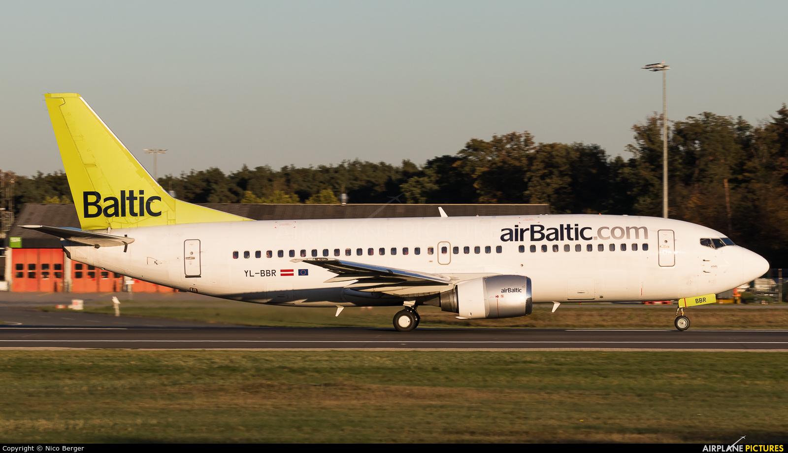 Air Baltic YL-BBR aircraft at Frankfurt