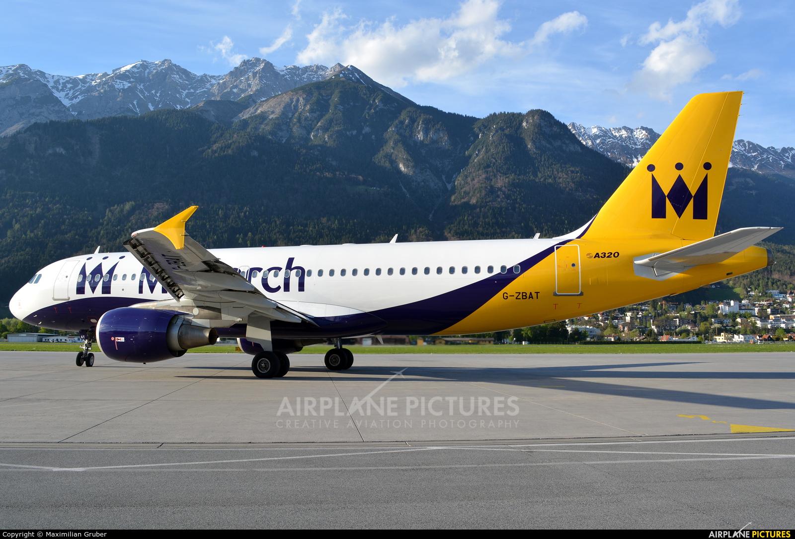 Monarch Airlines G-ZBAT aircraft at Innsbruck