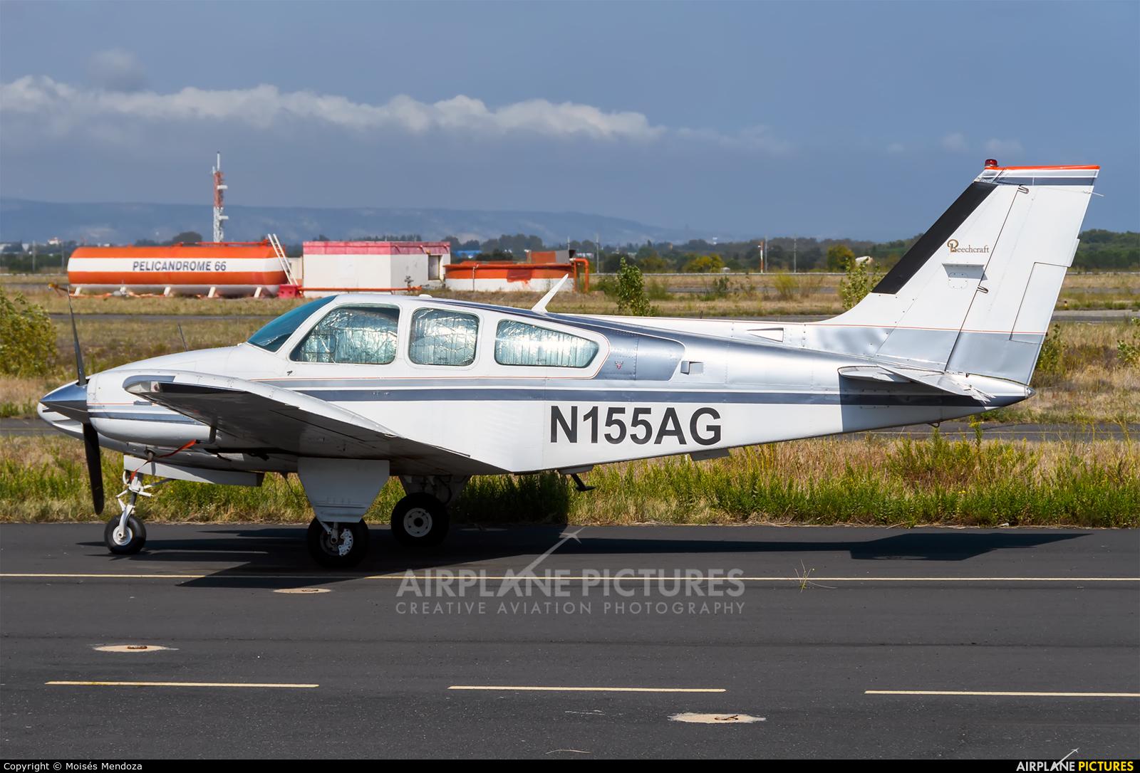 Private N155AG aircraft at Perpignan - Rivesaltes (Llabanere)