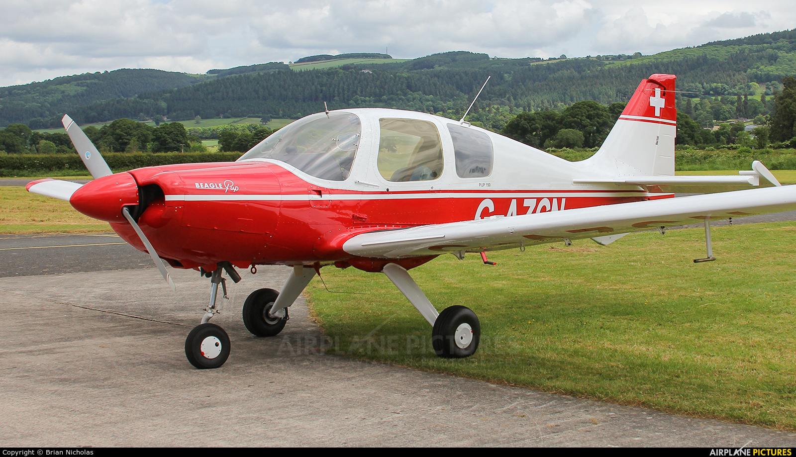 Private G-AZCN aircraft at Welshpool
