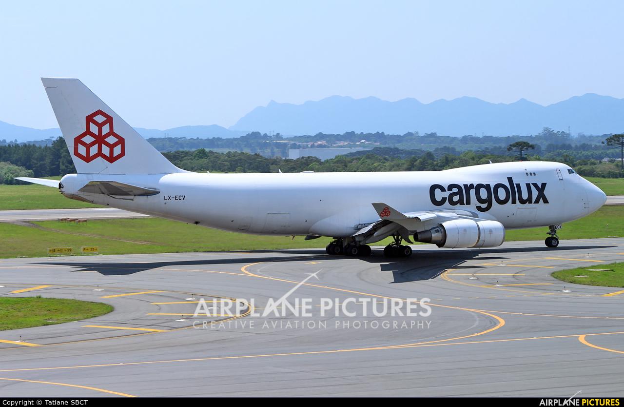 Cargolux LX-ECV aircraft at Curitiba -  Afonso Pena